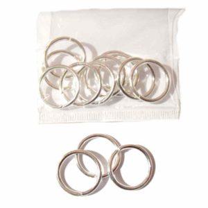anneaux argentés 17 mm
