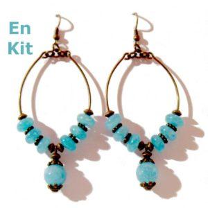 kit complet diy boucles d'oreilles bronze