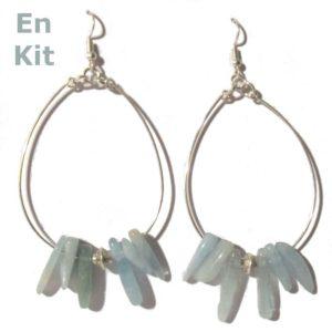 diy boucles d oreilles pierre gemme